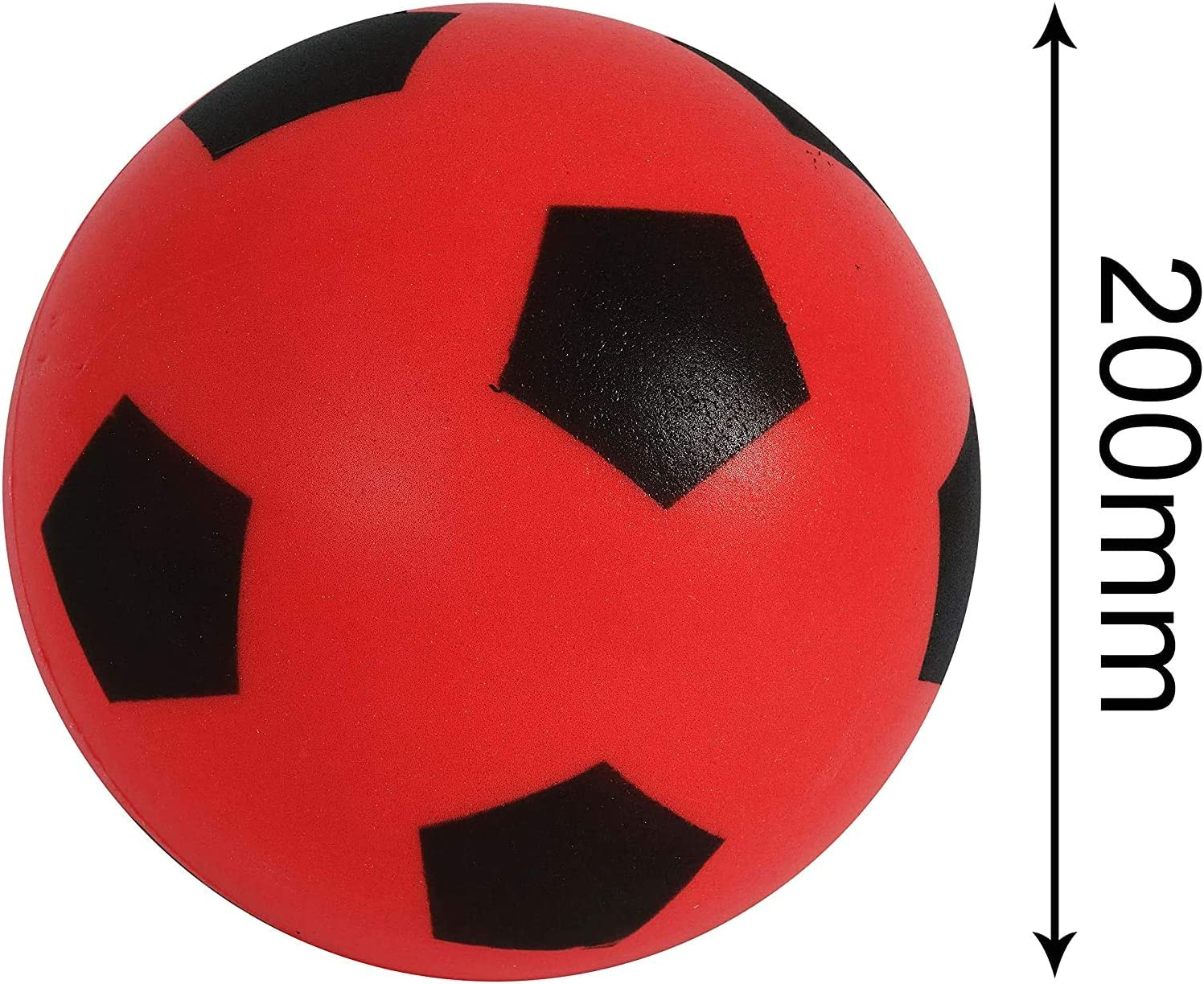 eMKay Size 5 Red Football Indoor//Outdoor Soft Sponge Foam Soccer Ball Great Fun For Adults And Kids Boys /& Girls