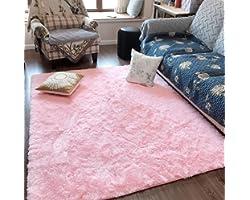 Fluffy Soft Kids Room Rug Baby Nursery Decor, Anti-Skid Large Fuzzy Shag Fur Area Rugs, Modern Indoor Home Living Room Floor