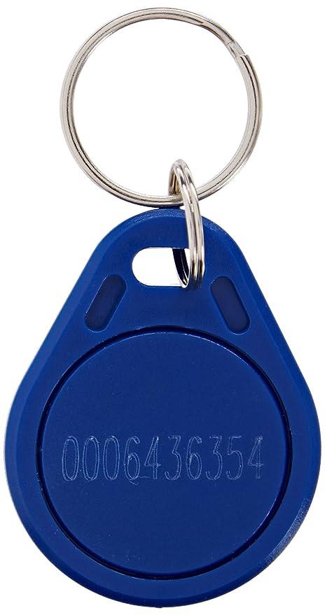 EM4100 125 KHz puerta azul Control tarjetas de identificación Llaveros RFID de proximidad 50