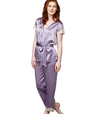 26947ddeac Julianna Rae Island Time Women s 100% Silk Wrap Pajama at Amazon ...