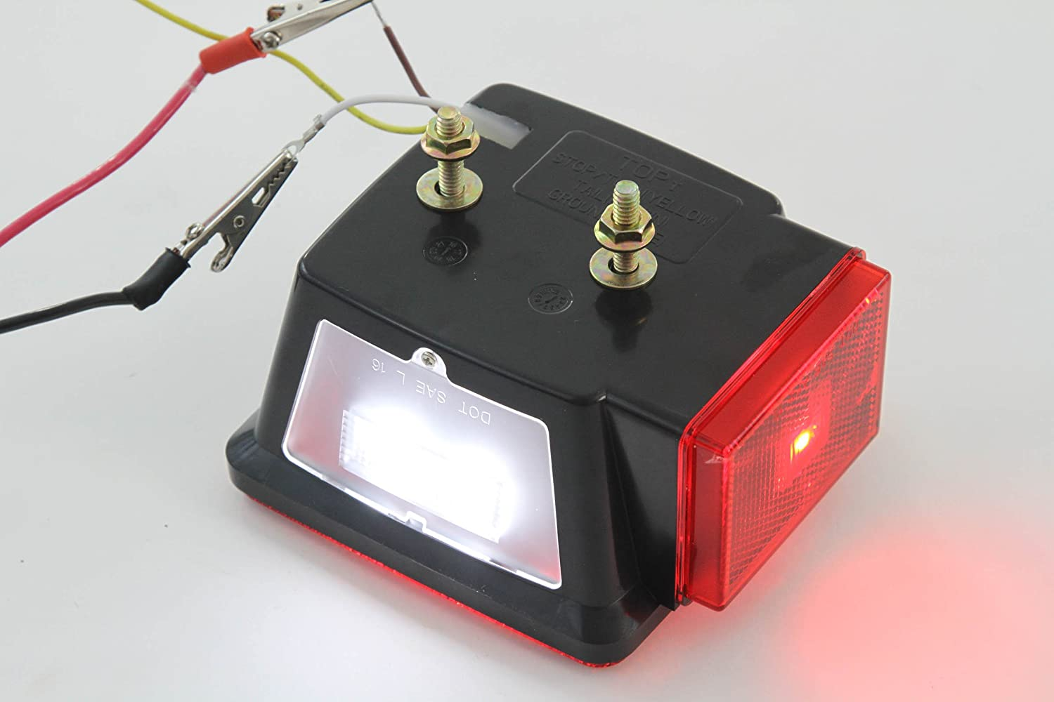 Led Square Red Trailer Turn Signal Stop 2 Light Dot Silverado Wiring Harness Splice Compliant Set L R Submersible Under 80 Automotive