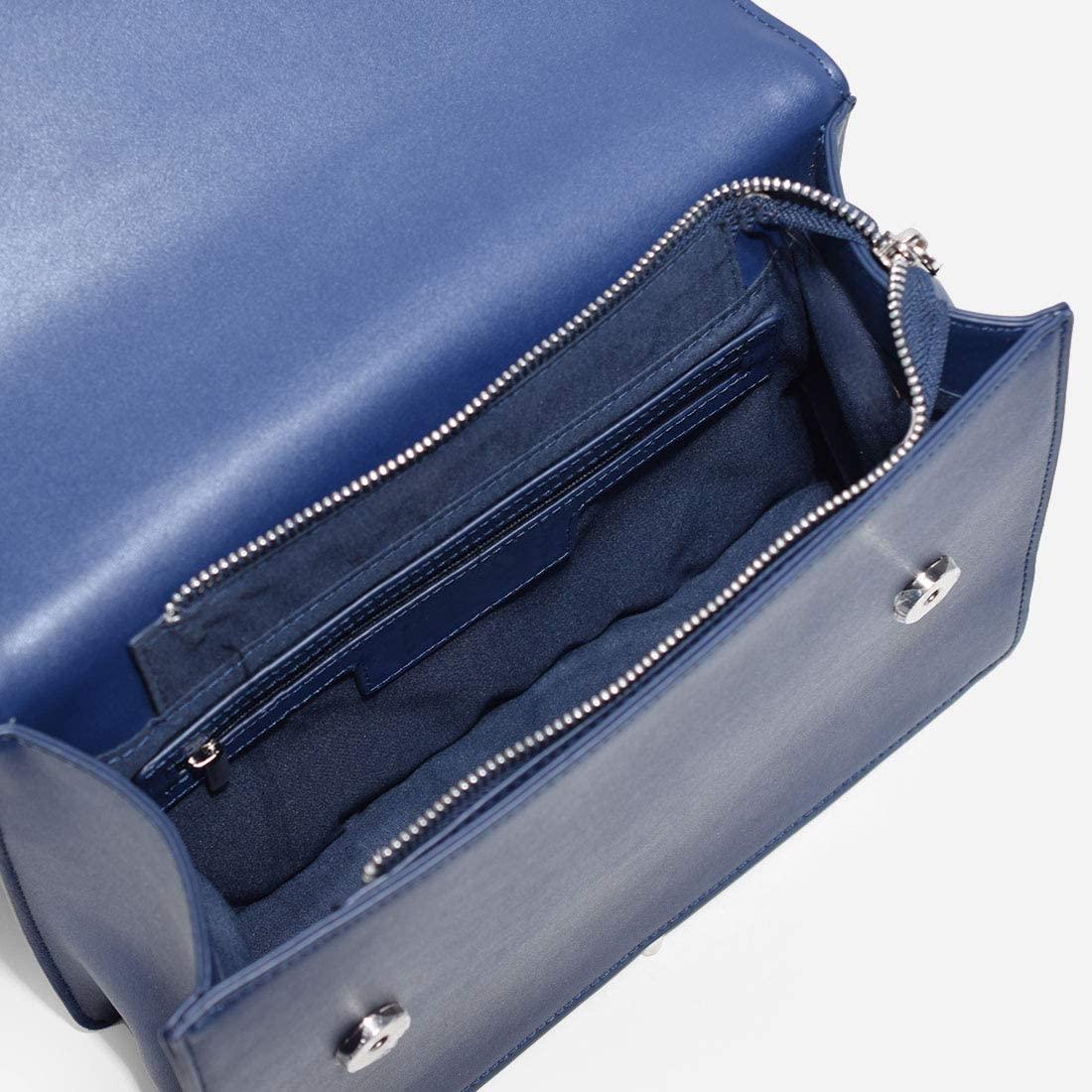 Evermore Lady Borsa a tracolla da donna Borsa a tracolla in pelle vegana artificiale di alta qualità Blu