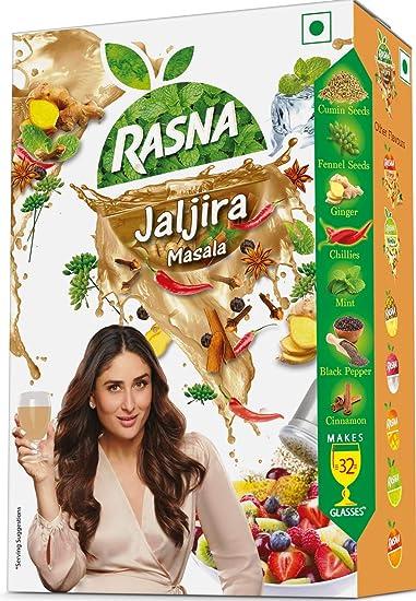 Rasna Fresh Fun 32 Glass monocarton, Jaljira Masala,Powder Content 30+30=60gm & Liquid Content 15ml(Pack of 5 )