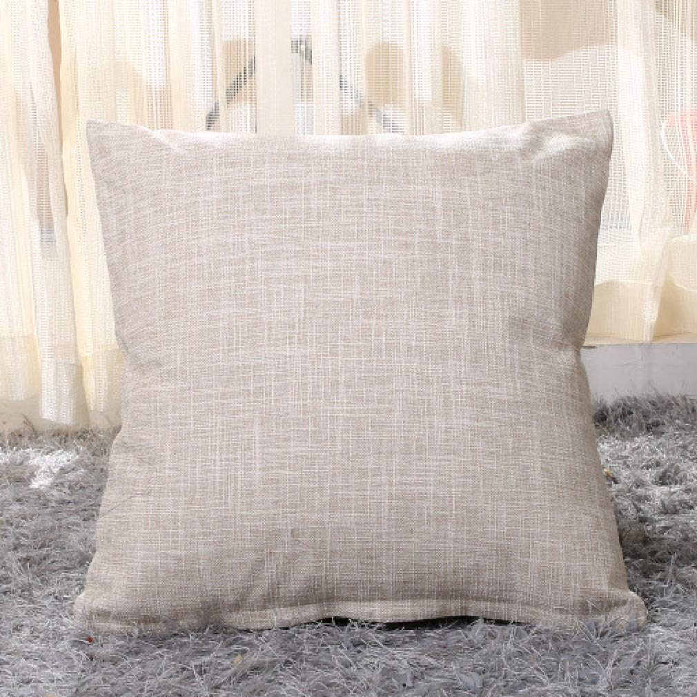 AS10 50x50cm Zimase Cute Cushion Predector for Sofa Couch Linen Home Decor Pure color Pillow Insert Simple Throw Pillowcase AS3 50x50cm