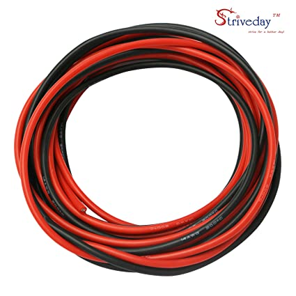 striveday trade; 14 Gauge Soft Flexible Silicone Wire - 14 AWG Cable ...