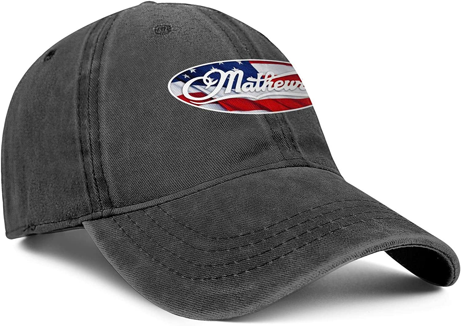 BSUTU Mens Womens Cowboy Hat Mathews-Archery-Compound-Bow-American-Flag Washed Cotton Adjusted Sport Baseball Cap