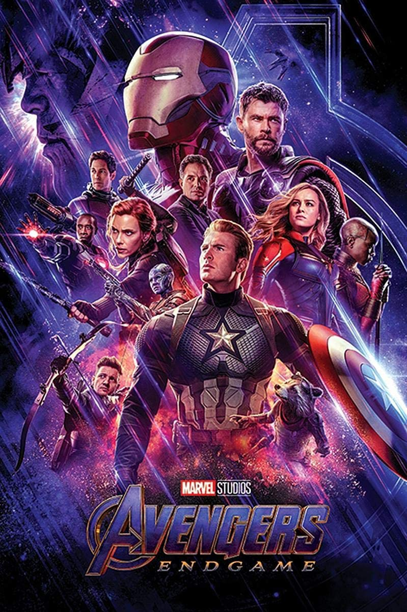 Close Up Póster Marvel Avengers: Endgame - Personajes [One Sheet] (61cm x 91,5cm) + 1 póster Sorpresa de Regalo