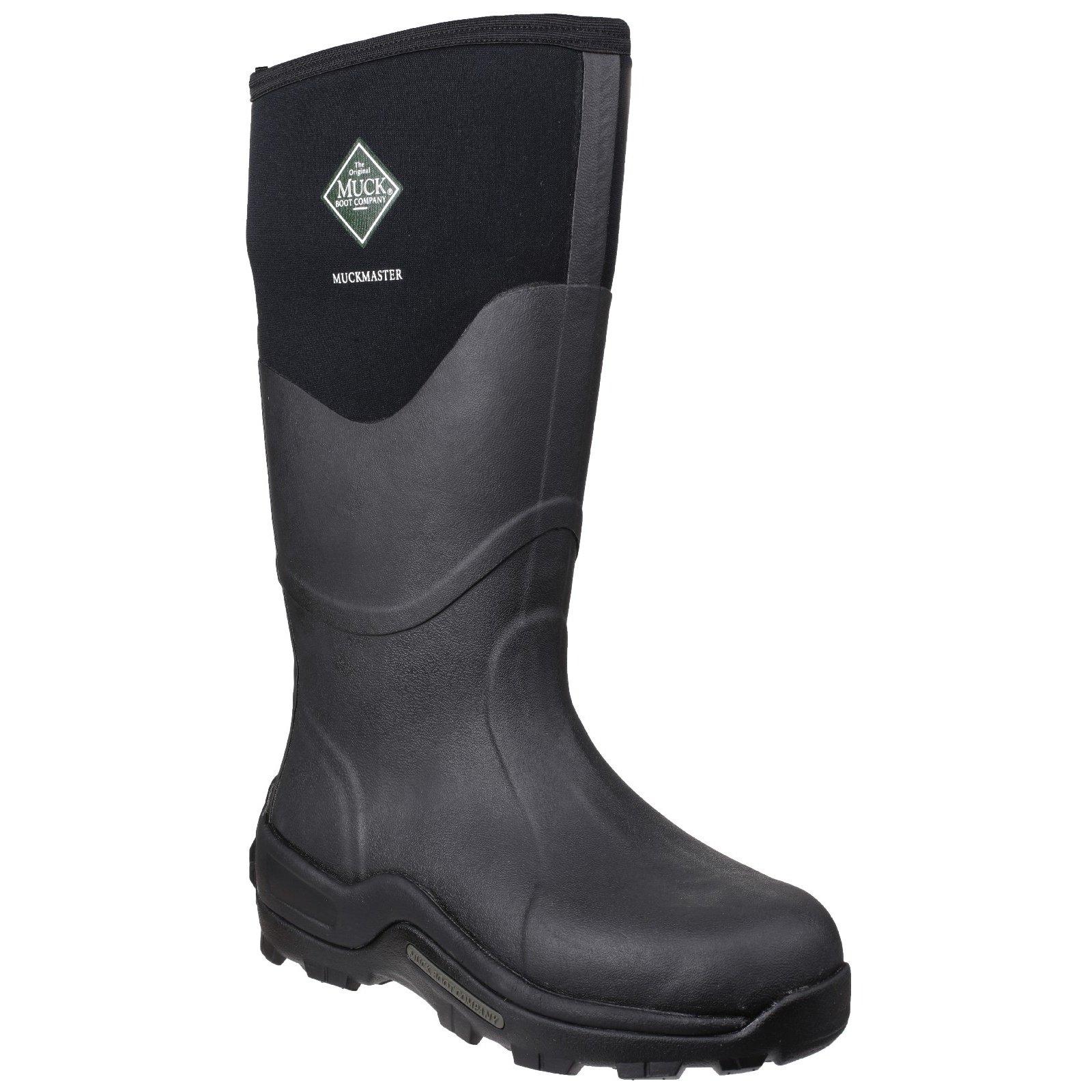 Muck Boot Unisex Muckmaster Hi Wellington Boots (7 M US / 8 W US) (Black)