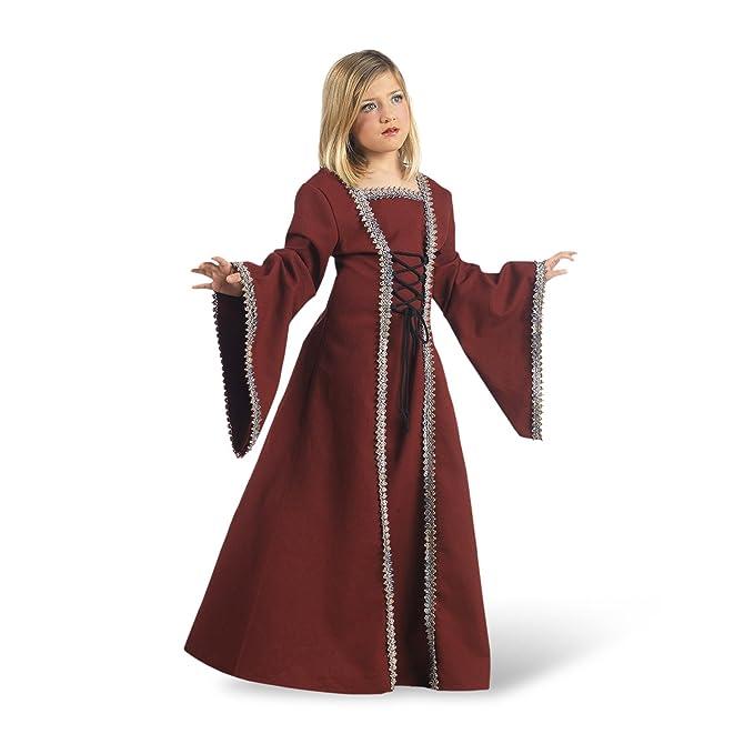 Traje medieval Señora burdeos Margrit vestido medieval para ...