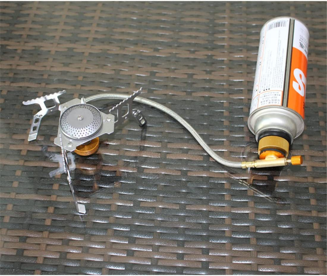 Holzsammlung Conector de Quemador Estufa de Campo al Aire Libre Adaptador de Botella de Gas de Conversion de Camping de Cabeza de Conversion #HO6347