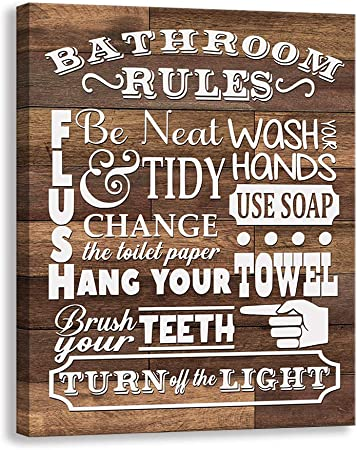 Amazon.de: Kas Home Badezimmer-Leinwand auf Leinwand ...