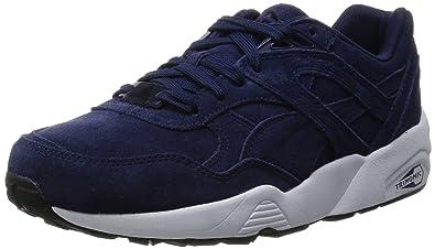 4fab1c21bf73 Puma R698 Allover Suede chaussures, Bleu (Peacoat/White/Black), 37.5