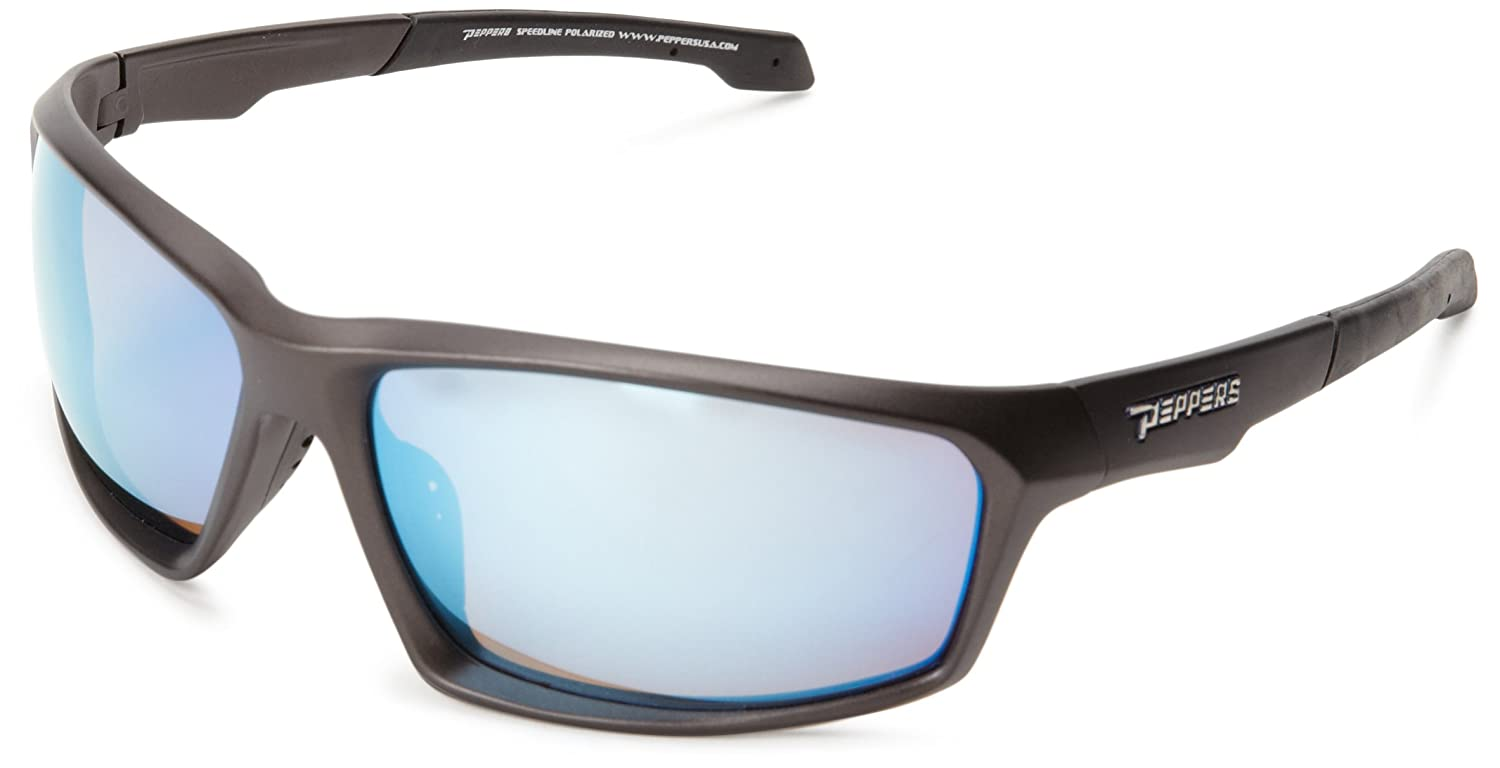 e4fc134c9d Peppers Polarized Sunglasses Tigger Matte Grey with Blue Lens MP523-4   Amazon.co.uk  Clothing