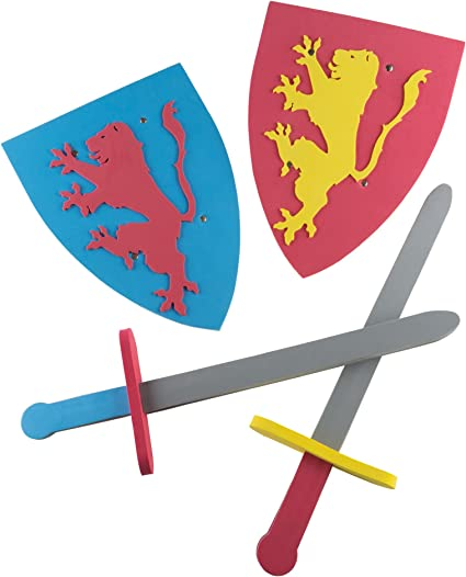 KNIGHTS /& WARRIOR SWORD /& SHIELD Pretended Play Set Toy
