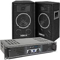 Vonyx 300W DJ Luidspreker en Versterker combinatie