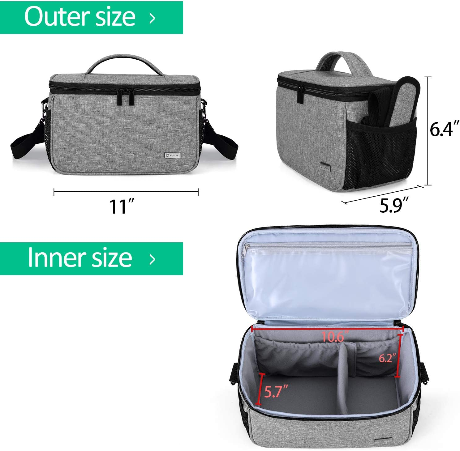 Black Yarwo Carrying Case Compatible with Cricut Joy Portable Tote Bag with Pockets for Craft Tools Set