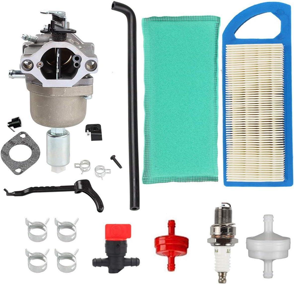 Hippotech Carburateur avec filtres /à air pour Briggs /& Stratton 594593 591731 794572 791888 698445 590400 791858 593433 793224 792358 697190 699916 699109 796109 pour moteur 31H777