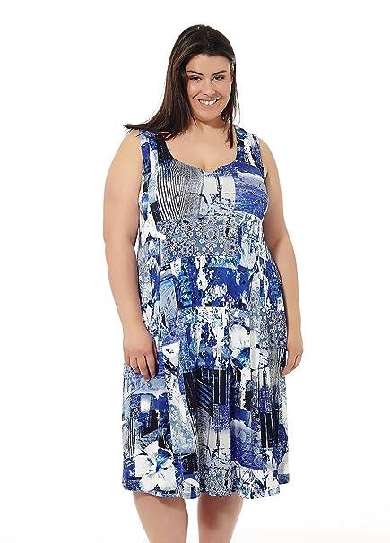 Vestido mujer verano. Vestido de playa. Estampados varios. Tallas Grandes Mabel big&beauty.