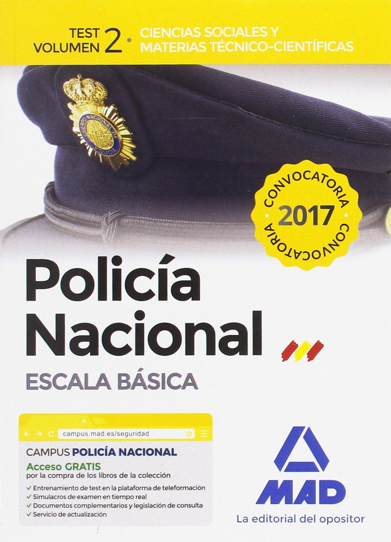 Download Policía Nacional Escala Básica. Test volumen 2 Ciencias Sociales y Materias Técnico-Científicas ebook