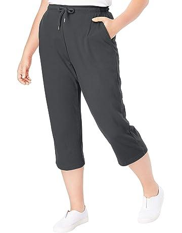f9404bd48f7bf Woman Within Women's Plus Size Sport Knit Capri Pant