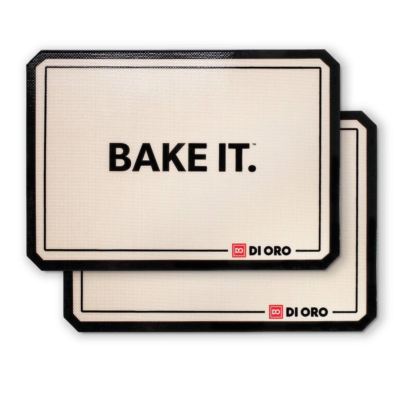 DI ORO - Pro Silicone Baking Mat - Nonstick Silicone Sheets - 480° Heat Resistant - 16 1/2