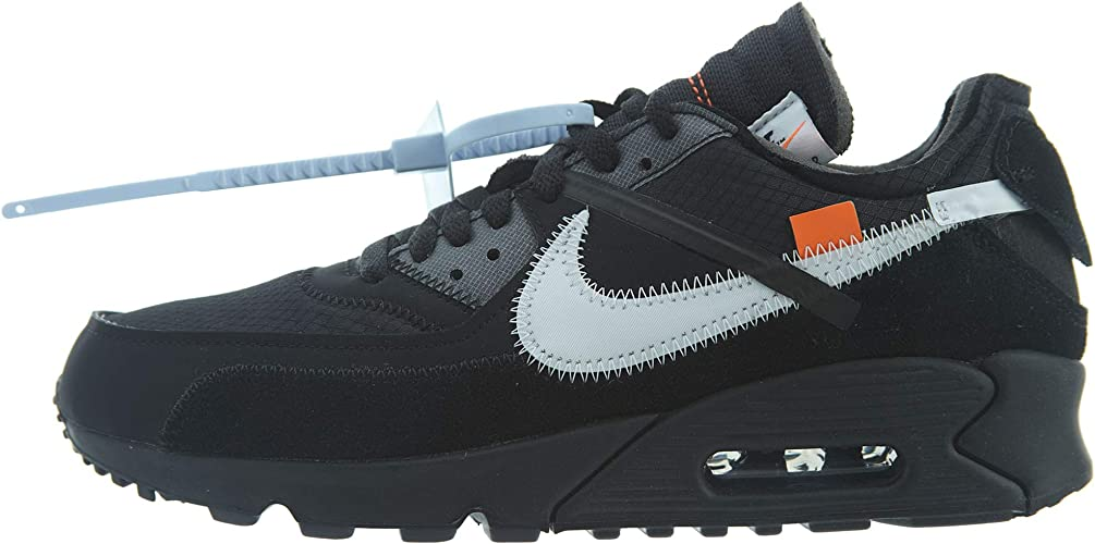 Amazon Com Nike Mens The 10 Air Max 90 Black Black Cone Suede Fashion Sneakers