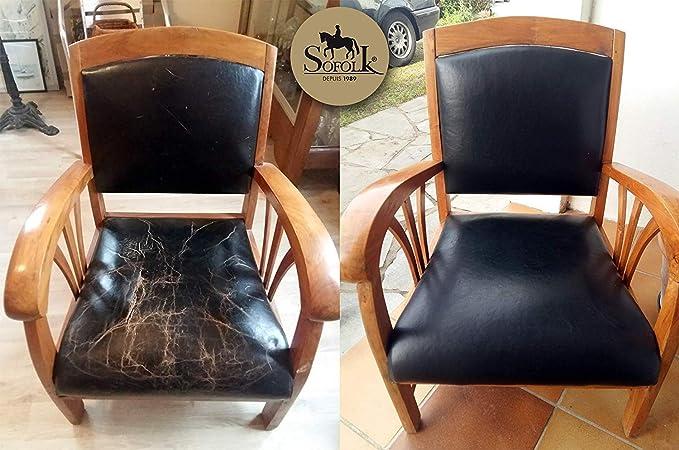 Kit de restauración para el volante de cuero negro: Amazon ...