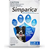 Simparica Chew Tab for Dogs 10.1-20 kg Pack, 3 Count, Blue, 6pk