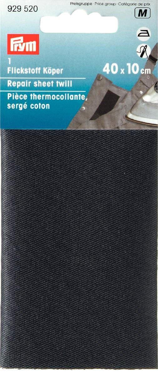 PRYM Reparatur Tabelle//Twill f/ür ironing-on 12 x 45 cm schwarz