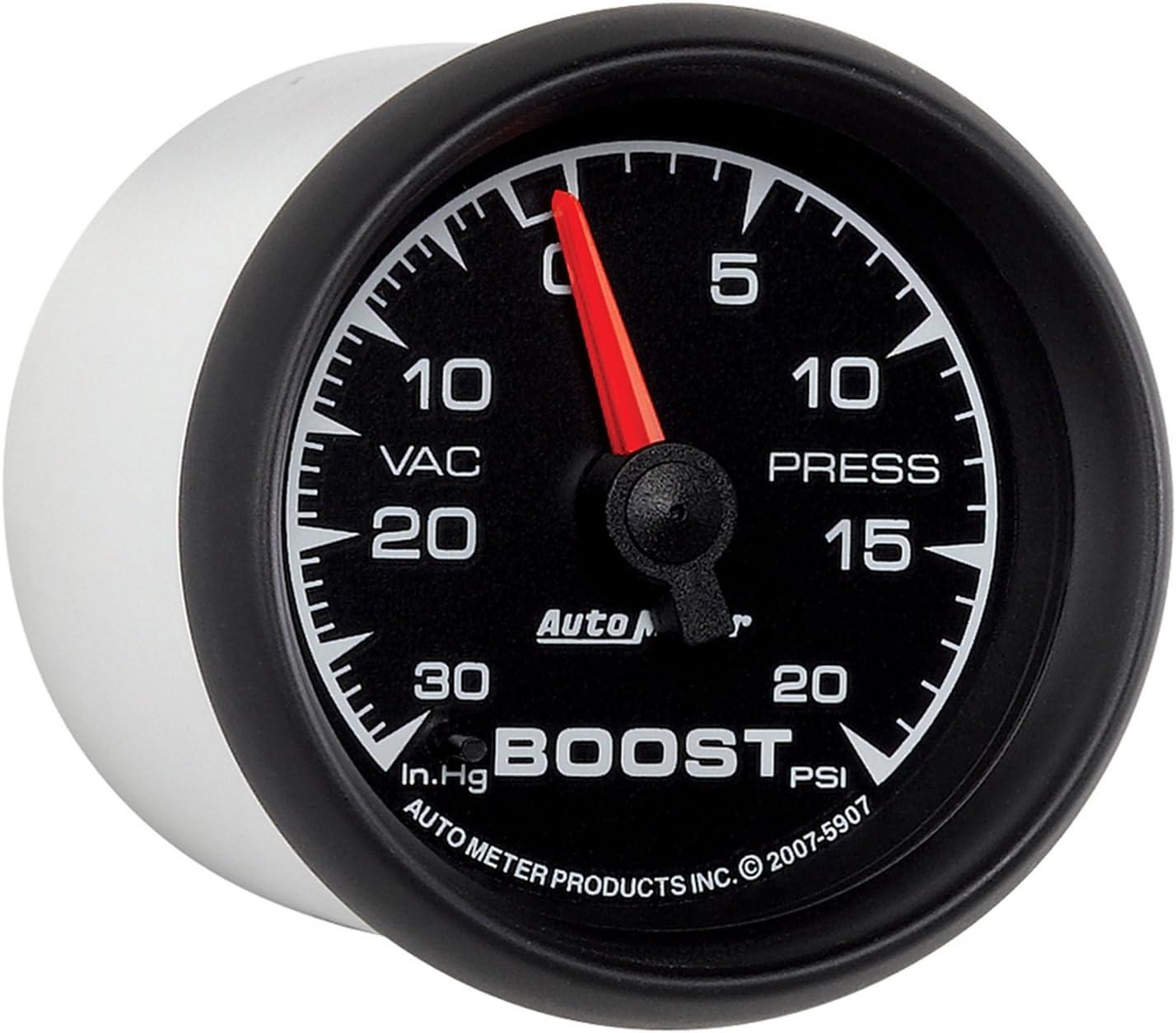 """30 in HG//20 PSI Auto Meter 5907 2-1//16/"""" ES Mechanical Boost//Vacuum Gauge"""