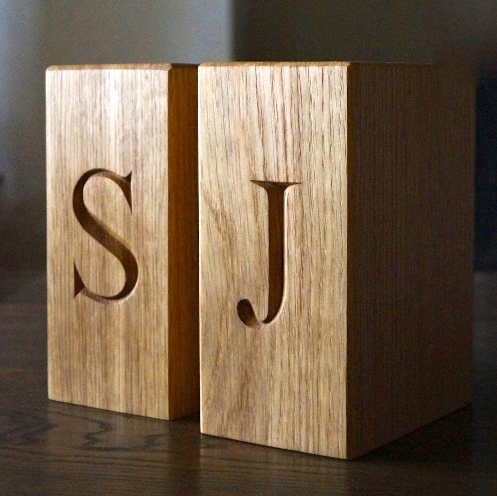 Well known Personalised Wooden Bookends: Amazon.co.uk: Kitchen & Home XN87