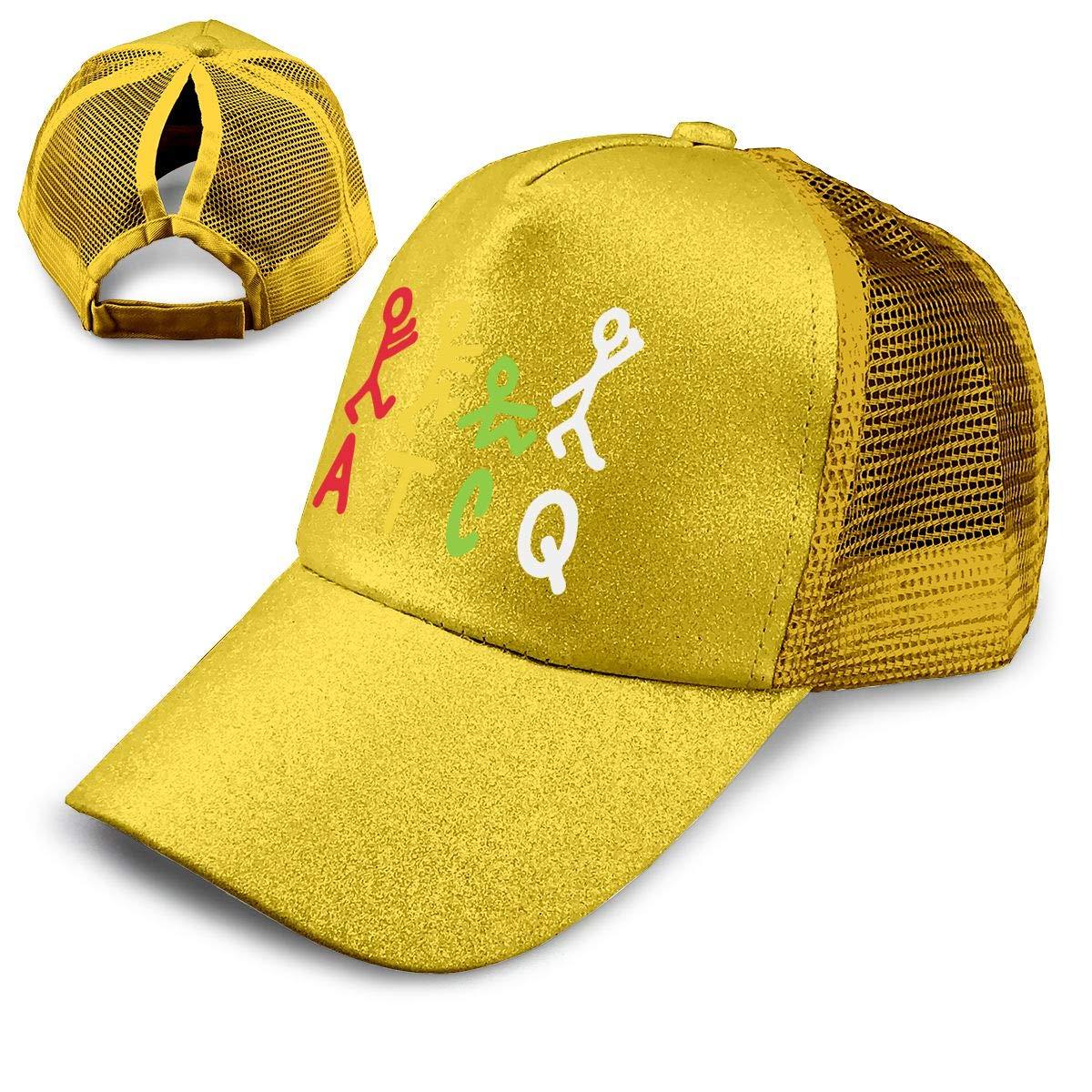 ATCQ Ponytail Messy High Bun Hat Ponycaps Baseball Cap Adjustable Trucker Cap Mesh Cap