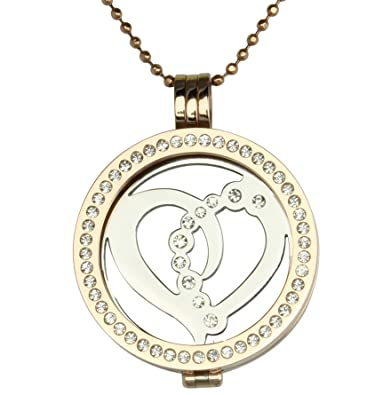 Mi Milano Love Münzemoneda Austauschbar Halskette Rose Gold