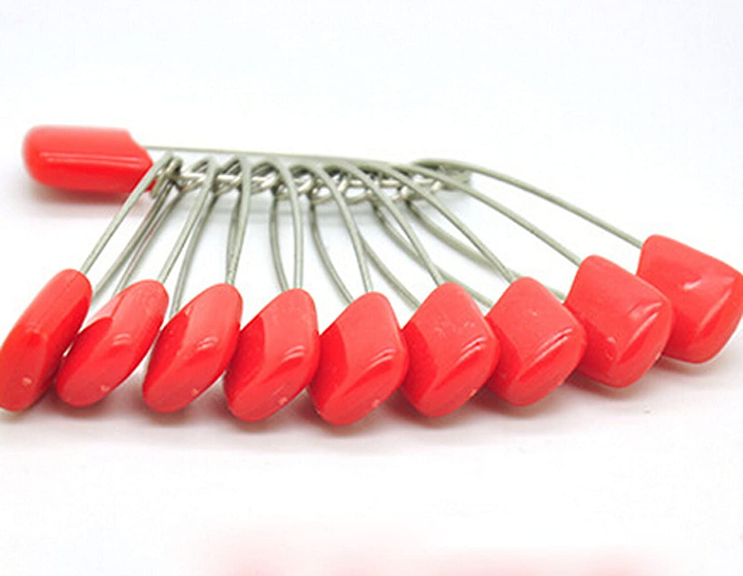 KingWinX Baby Safety Diaper Pins Pack of 20 Pcs Small Size Red