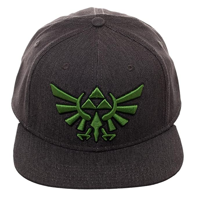 98779384a4fd8 Image Unavailable. Image not available for. Colour  Embroidered Nintendo  Zelda Logo Fitted Flatbill Flex Cap ...