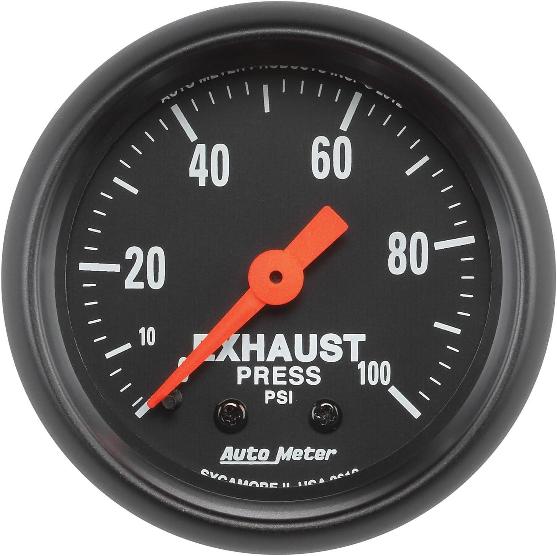 Z-Series 2-1//16 0-100 PSI Mechanical Exhaust Pressure Gauge 2619 Auto Meter