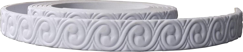"Zhangbl Flexible Moulding Crown Molding Trim for Furniture Door Home Decor 0.94""(2.4cm) x 115""x 0.2"""