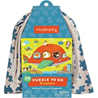 Mudpuppy Airplane to Go Puzzle, 36 Pieces – Great for Kids Ages 3+ - Perfect for Travel, Easy Clean-Up, Packaged in…
