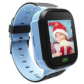 Smart Watch para Niños, 1.44 Pulgadas Smart Watch Anti-Lost Touch para Niños, Niñas y Niños con Cámara SIM, Llamadas SOS Smart Watch