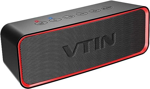 VTIN Wireless Bluetooth Speaker Portable IPX6 Waterproof with Extra Bass Classic