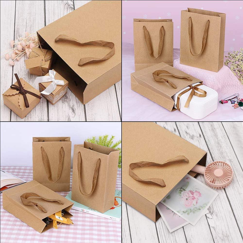 Bags for Weddings 50pcs 7.9 x 3.9 x 11In ,Shopping Bags,Birthday Party Favor Bags,Retail Bags Conleke Brown Kraft Paper Gift Bags with Handles Bulk