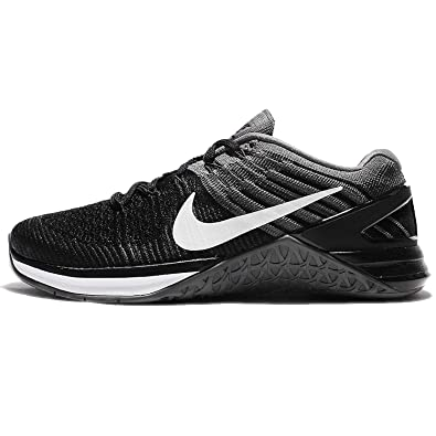 fe46e6a87be Nike Women s Metcon DSX Flyknit Training Shoe Black White-Dark Grey 8.0