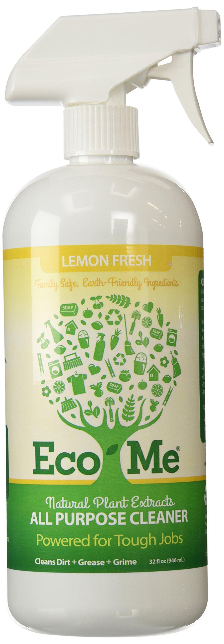 Eco-Me Natural All Purpose Cleaner, Lemon Fresh, 32 Fluid Ounce