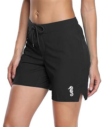 b4fde670bd anfilia Womens Quick Dry Boardshorts Long Swim Shorts Trunks Beach Shorts