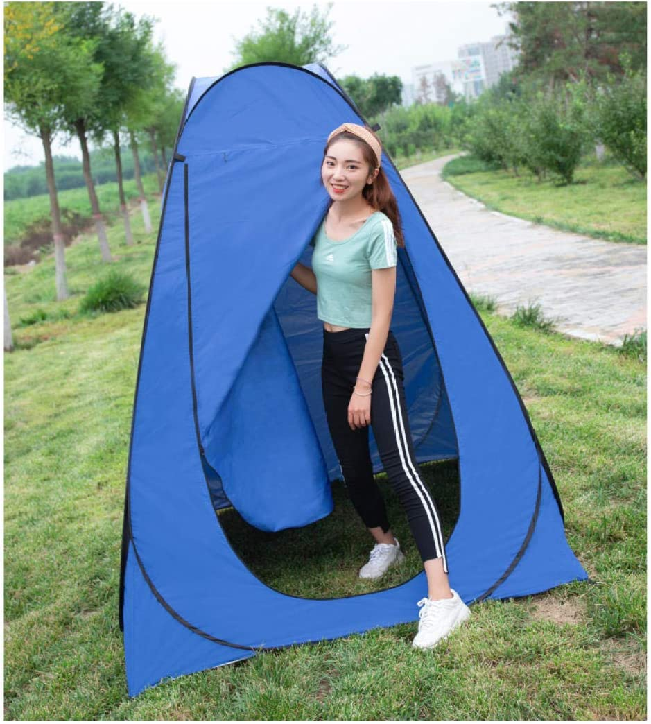 Shower and Toilet Room Waterproof Camping Beach Foldable With Bag Spacious Tent Shelter@gold/_1.2m Outdoor Portable Privacy Tent for Dressing