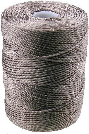 Gray C-Lon 0.5mm Bonded Nylon Bead Cord
