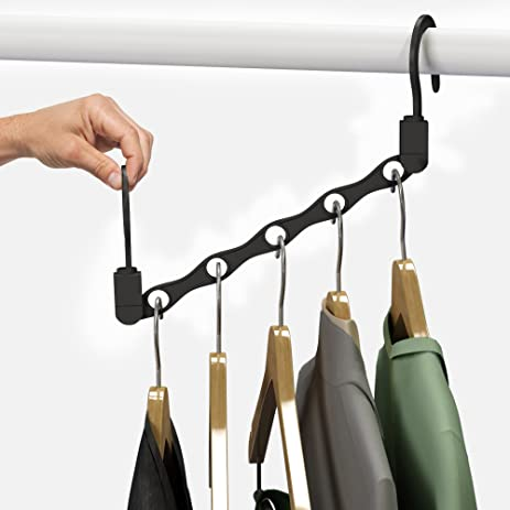 Amazon.com: Space Saving Closet Organization Vertical and Horizontal Multi  Hanger for Shirts, Pants, and Coats, All Your Dorm Room Essentials by  Everyday ...