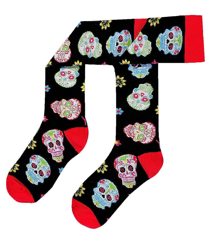 Psychedelic Neon Skulls Yo Sox Women S Knee High Black