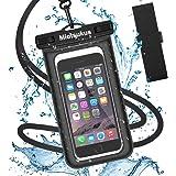 Miotsukus(澪標) 強化版 防水ケース スマホ用 IPX8認定 指紋認証 顔認証対応 水中 撮影 スマホ用 携帯防水ケース タッチ可 気密性抜群 iPhoneXR/X/8/8plus/7/7plus/6/6plus/Android 6インチ以下全機種対応 潜水 お風呂 海水浴 水泳など適用