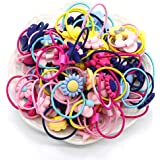 40 pieces Girls Hair Ties, Girl Hair Elastic Ropes for Pigtail Ponytail Holder, Colorful (Multicolor mixing)